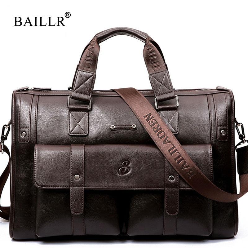 LEINASEN Brand High Capacity Men Briefcase Business Messenger Handbags Men Bags Laptop Handbag Bag Men's Travel Bags HighQuality