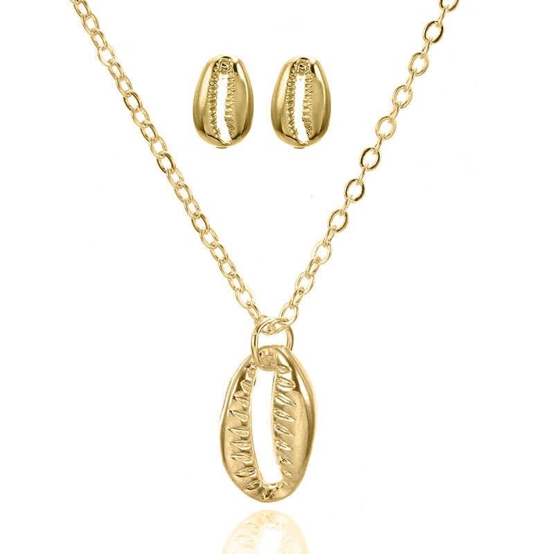 Nowy projekt czeski naszyjnik z muszelek zestaw dla kobiet dziewczyn 2019 moda naszyjnik z muszelek damska biżuteria prezenty