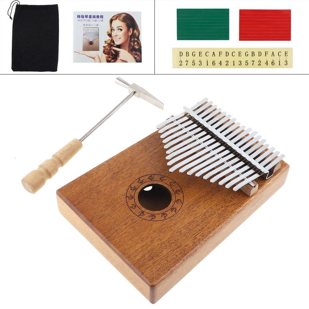 17 Key Marimba Wood Kalimba African Thumb Piano Finger Percussion Keyboard Music Instruments
