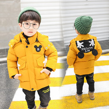 Fashion handsome and cute cartoon character boy winter down jacket winter thick warm cotton filled hat with baby jacket cute cartoon character note pad with keychain and strap color assorted