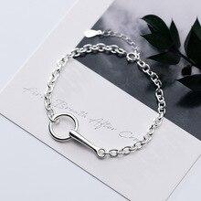HFYK 925 Sterling Silver Bracelet 2019 Vintage Round Circle Chain Bracelets For Women bracelet femme joyas de plata pulsera