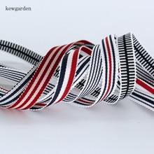 Kewgarden 3/4 8/5 3/8 Wavy Edge Stripe Grosgrain Ribbons Handmade Tape DIY Bowknot Satin Ribbon Garment Accessories 10 Yard