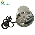 "Good Quality 6"" Inline 240CFM Duct Booster Exhaust Ventilation Blower Fan 15mm for Grow Tent Room"