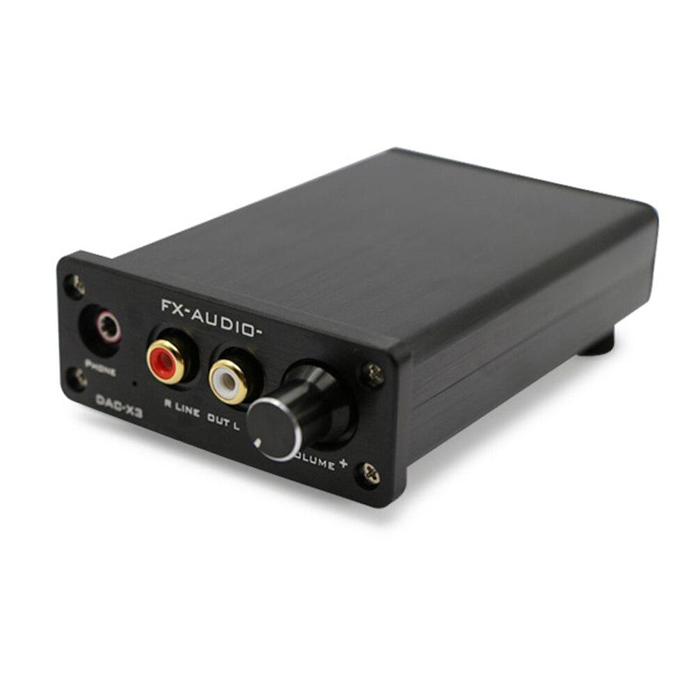 Mini amplificateur de casque Portable FX Audio DAC-X3 CS4344 CS8416 AUX USB DAC amplificateur d'écouteurs amplificateur Coaxial décodeur Audio optique