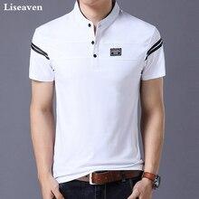 Liseaven Men's T Shirt 2018 Short Sleeve Mandarin