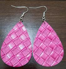 New 2019 Woven leather earrings Leather Statement Earrings for Women fashion Jewelry 25 color Weaving Drop Earrings