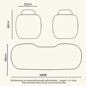 Image 2 - Tampas de assento do carro conjunto universal automóveis capa de assento respirável linho assentos automóvel almofada almofadas protetor estilo do carro acessórios