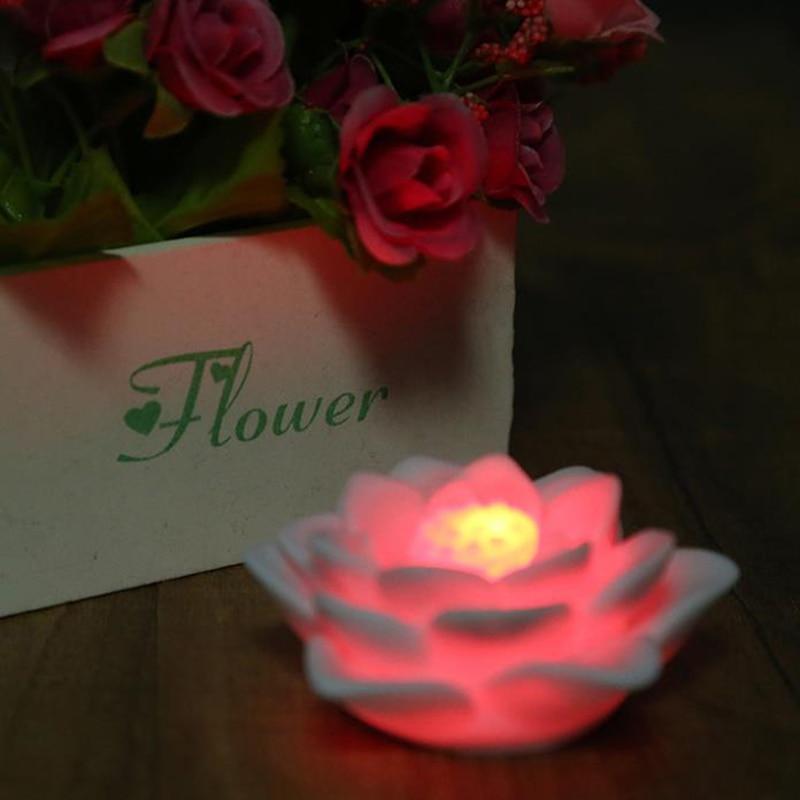 Romantic Seven Color Changing Led Lotus Flower Night Light Festival