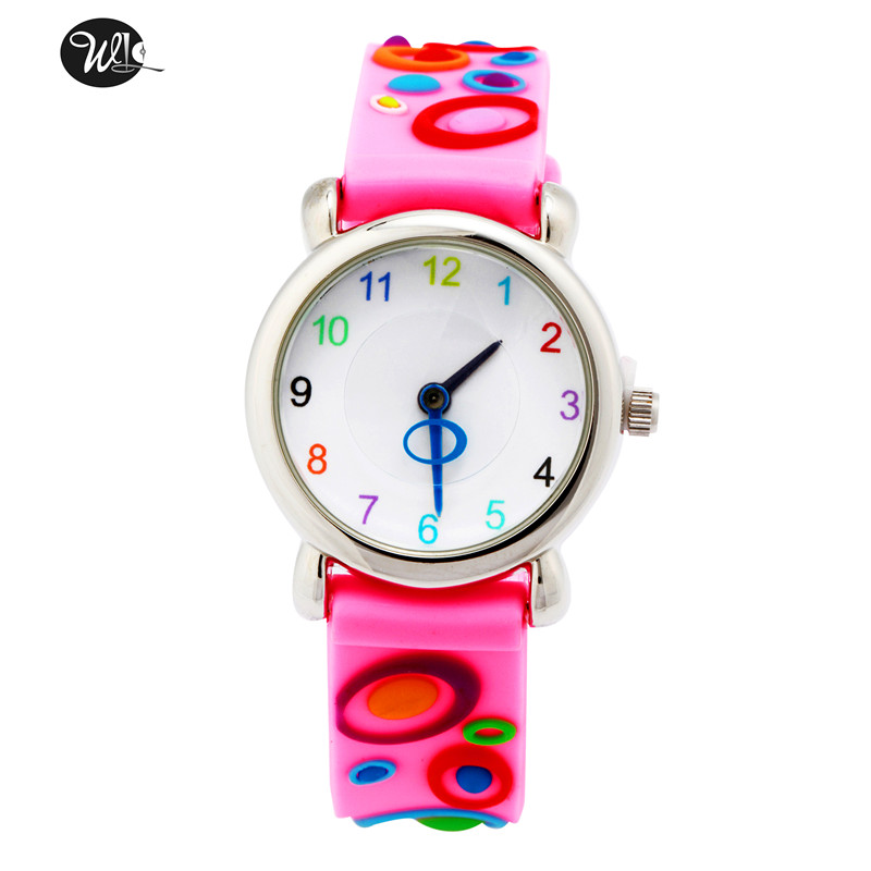 Children's Gift Watch Quartz 3D Strap Cartoon Color Bubble Watch Pointer Fashion Electronic Waterproof Watch Children's Watch