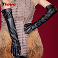 Ladies Long Elbows Spring and Winter Gloves Leather Gloves 50cm Length Female Arm Set Oversleeve Performance Glove  B-1467