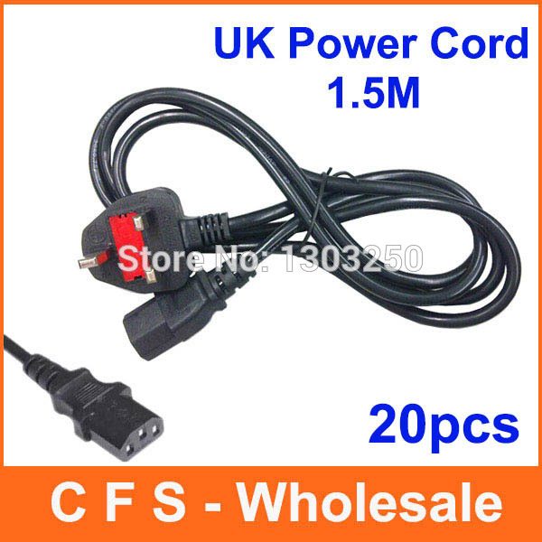 20pcs UK Power Cable / UK Power Cord / three Wire Cable / Wire Cord ...