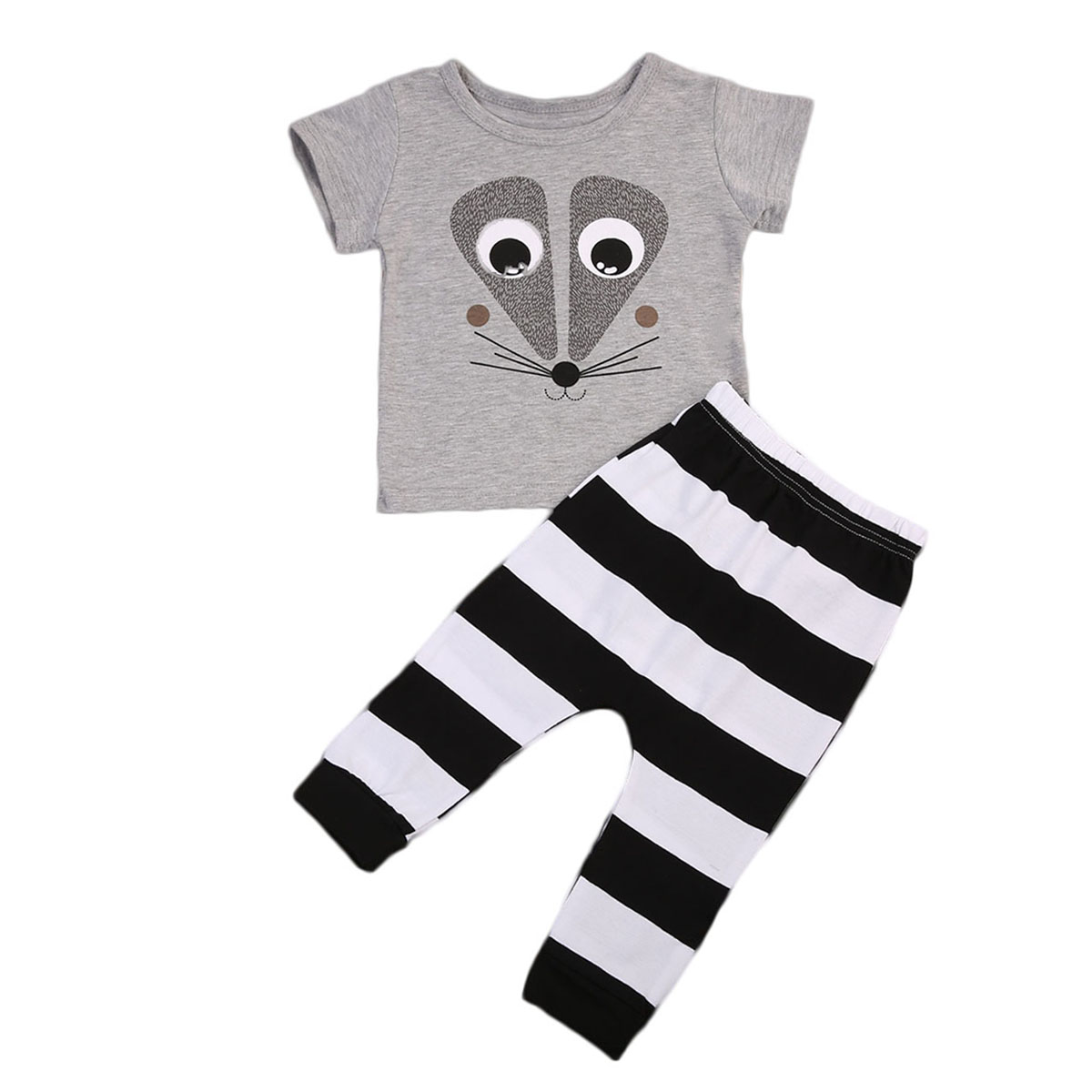 Newborn Toddler Kids Clothing Sets Baby Boys Outfits T-shirt Tops+Pants 2pcs Clothes Set Cute