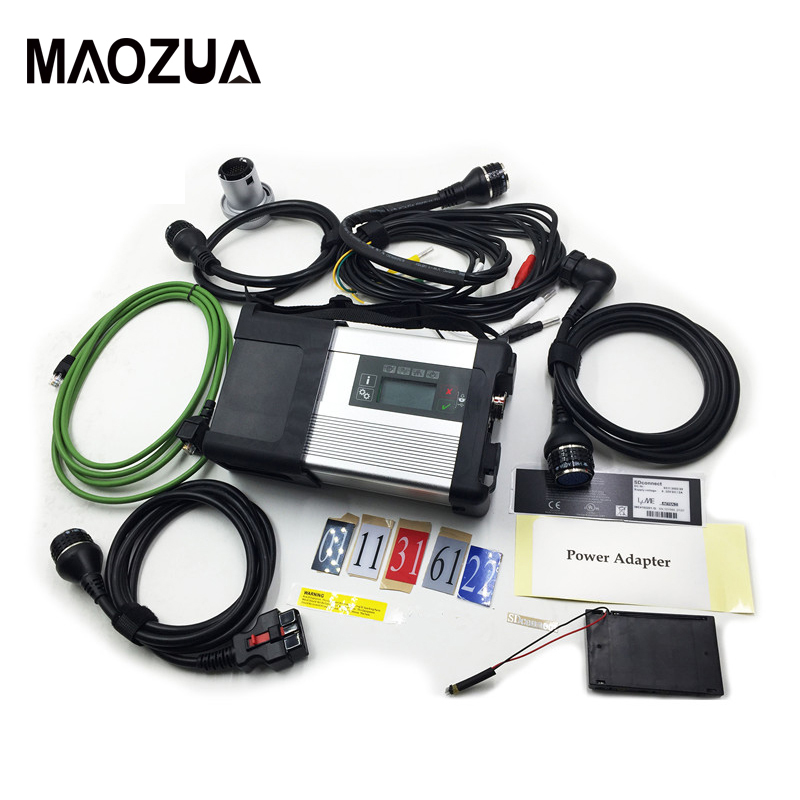Maozua MB SD Star C5 SD Connect Compact 5 Star Diagnosis with WIFI for Cars and Trucks Multi-Langauge Car Diagnostic Tool 38 pin main cable for mb star c4 c5 diagnosis sd connect for mercedes compact 4 5 super quality