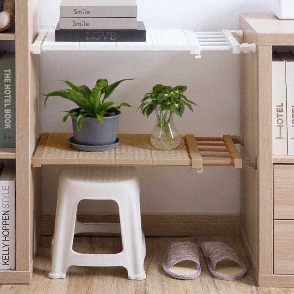 Decorative Shelves Cabinet Holders Adjustable Closet Organizer Storage Shelf Wall Mounted Kitchen Rack Space Saving Wardrobe