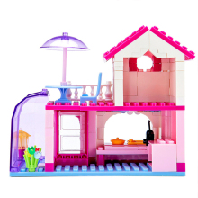 Diy Girl Friends Pink Villa Building Blocks Set Kids Compatible With Hobbies Bricks Toy For Christmas Gift Dolls House Toy House 957pcs my world figures toy building blocks compatible with legoed minecrafted city diy bricks toy gift for boy girl gift new