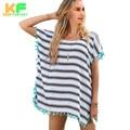 Fashion Loose Stripped Womens Blouses Batwing short Sleeve Tassel Summer blusas shirt Casual Beach clothing cjzxfs00078