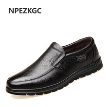 NPEZKGC Genuine Leather Casual Shoes Handmade Men Skid-proof Classical Moccasins For Male Business