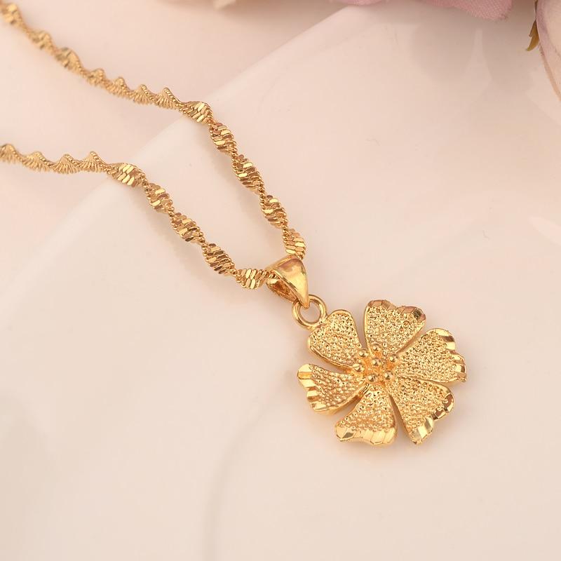 Flower Necklacewith Pendant Women Men Lovers S Jewelry Valentines Gift Gold Color Flower Romantic Fancy Diy Charms Bijoux Pendants Aliexpress