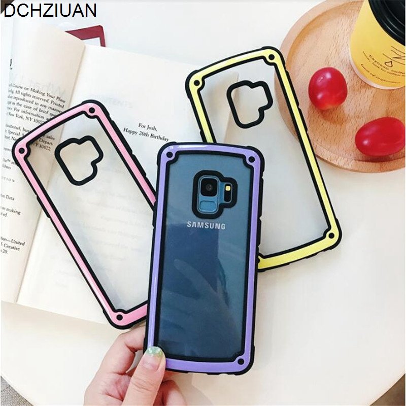DCHZIUAN For <font><b>Samsung</b></font> S10 S10 Plus S10e S9 <font><b>S8</b></font> Plus Note 9 Note 8 <font><b>Case</b></font> Fashion Simple Shockproof Clear Hard Soft Phone <font><b>Case</b></font> Cover image