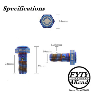 Image 2 - AKCND Motorcycle brake Caliper banjo bolt Oil Drain Screw/Hollow Screw M10x1.25mm For Brake hose Caliper Master Cylinder