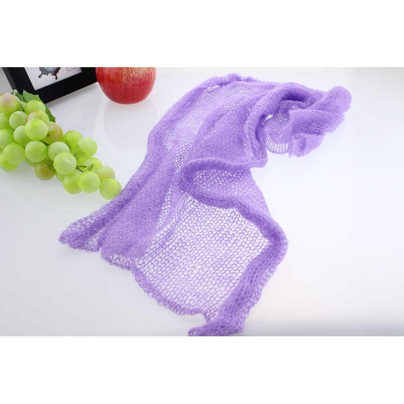 Moherowe miękkie rekwizyty fotograficzne dla dzieci noworodka zdjęcie okłady niemowlę Bebe Handmade szalik 40*60cm pieluszki akcesoria 12 kolorów