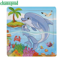 Chamsgend High Quality Wooden Whale Jigsaw Toys For Kids Education And Learning Puzzles Toy Levert Dropship