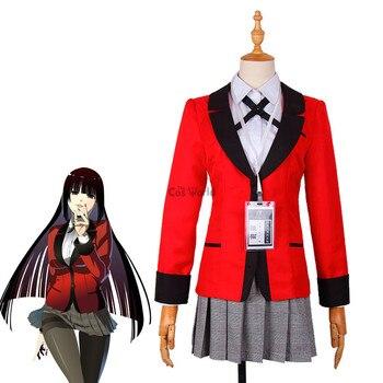 243be3080e Comics Kakegurui jugador compulsivo Jabami Yumeko Igarashi Sayaka uniforme  de la escuela camisa abrigo falda Anime Cosplay disfraces