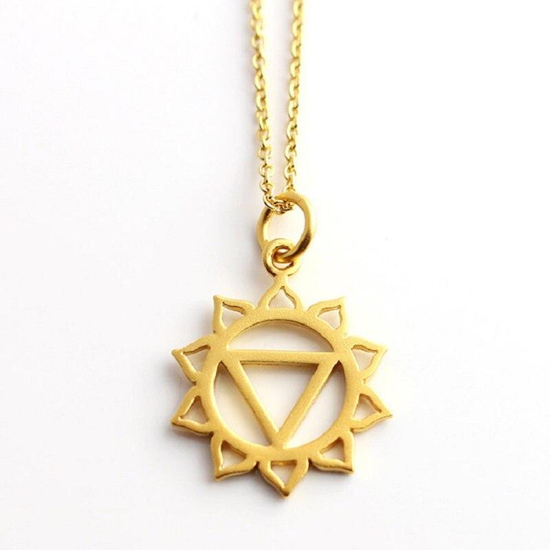 ①  1 ШТ. Сплав Йога 7 Чакр Ожерелье 50 см Золото Роло Цепи Ожерелье Ювелирные Изделия ✔