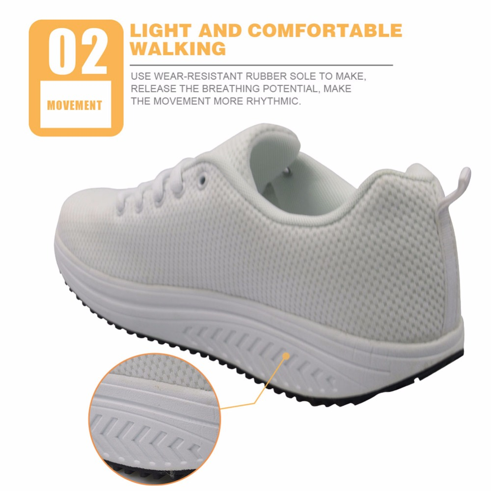 [37.01% OFF] INSTANTARTS Cute Pup Dog Pattern Women Outdoor Body Shaping Swing Shoes Comfort Sport Toning Shoes Light Mesh Fitness Shoes Girl