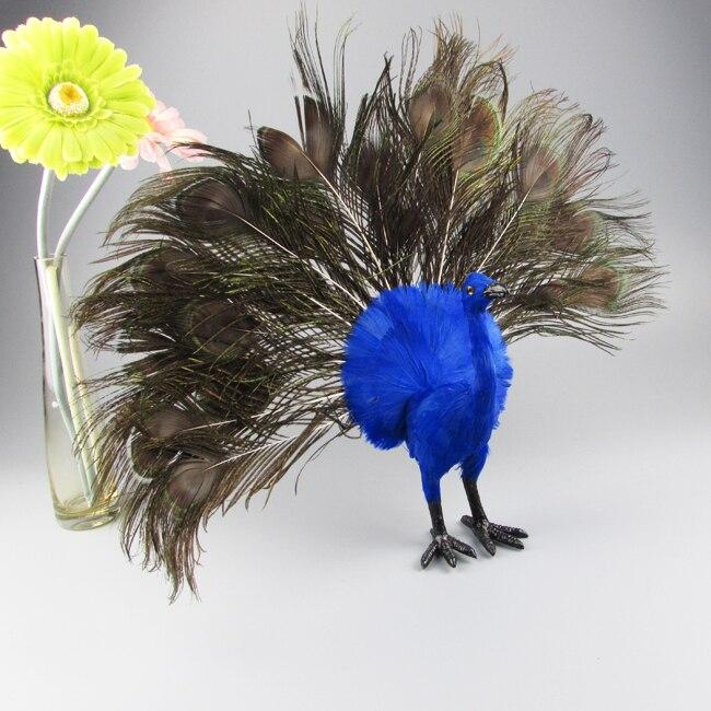 Simulation paon modèle environ 48x30 cm beau paon oiseau, décoration cadeau d'anniversaire a2157
