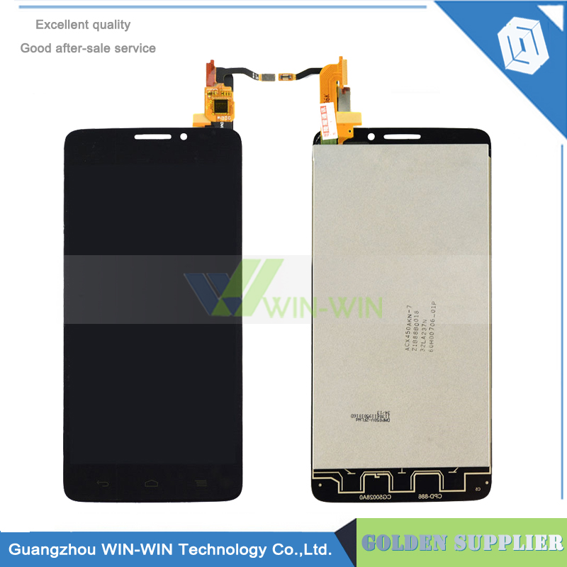 10pcs/lot For Alcatel One Touch Idol X OT6040 6040 6040D LCD Display Panel Touch Screen Digitizer Glass Assembly Free Shipping