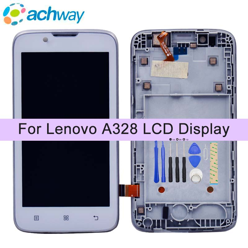 White 100% tested For Lenovo A328 LCD Display +Touch Panel Screen Digitizer Assembly with Frame  Phone Replacement Repair PartsWhite 100% tested For Lenovo A328 LCD Display +Touch Panel Screen Digitizer Assembly with Frame  Phone Replacement Repair Parts