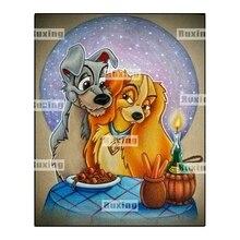 5D DIY Diamond Painting Cartoon Dog Cross Stitch Mosaic diamond painting Animal Pattern Full Square Rhinestone Home decor gift стоимость