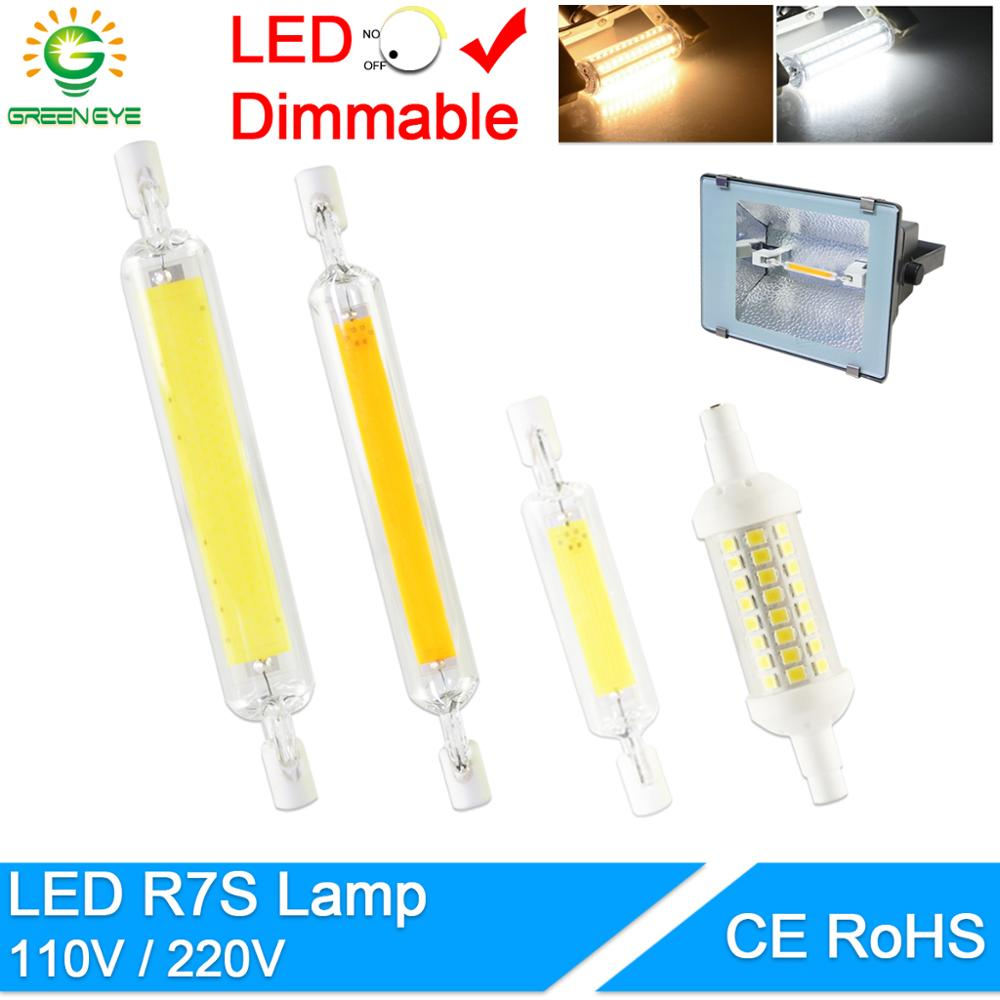 R7S J78 J118 J135 Led Bulb Dimmable Corn Led Lamp 78mm 118mm 189mm Replace Halogen 50W 100W Floodlight Spot Light AC 110V 220V