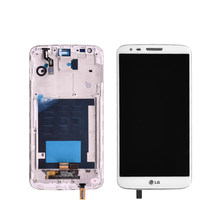 Per lg G2 D802 Display LCD Touch screen + Digitizer Assembly con cornice in bianco e Nero a cristalli liquidi di trasporto libero(China)