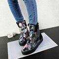 Высокие зимние ботинки сапоги ультра легкий и теплый плюшевые дамы повседневная обувь женщин девушки новый плоская доска снегоступы 245 м
