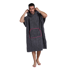 Sleeveless Changing BathRobe with Pocket, Surf Poncho Towel with Hooded, One Size Fit All