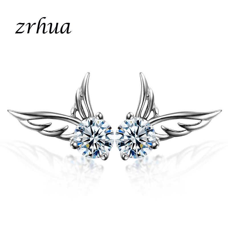 أقراط بريمة أنيقة للنساء من ZRHUA مناسبة كهدية عيد الميلاد للبنات أقراط مجوهرات فضية 925 عالية الجودة مجوهرات بسيطة