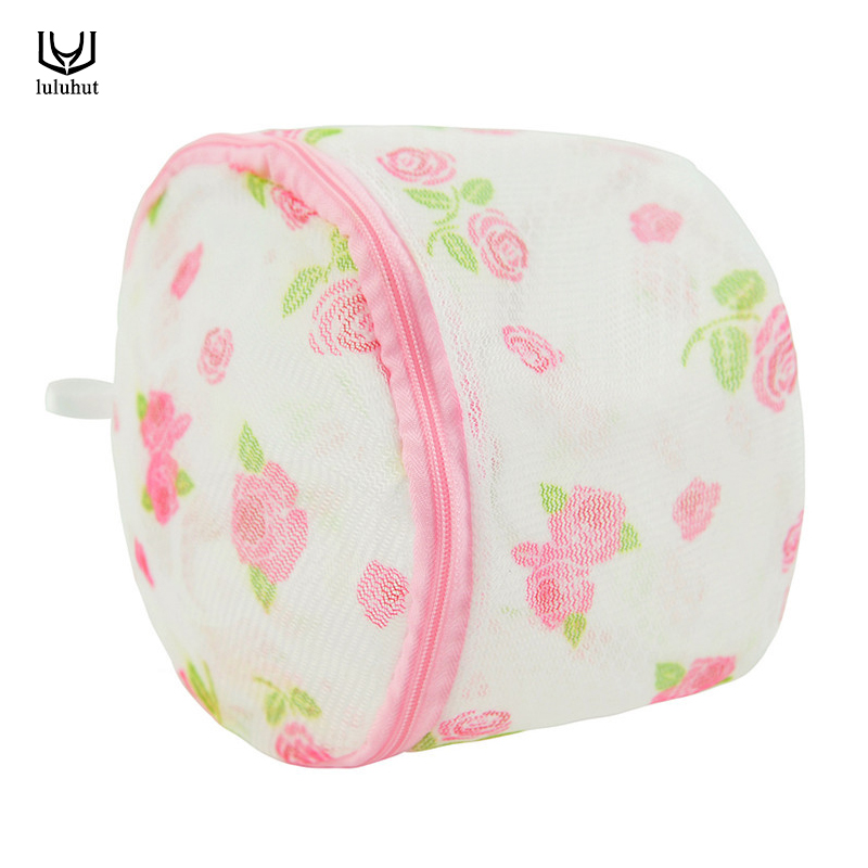 Luluhut Convenient Women Hosiery Bra Lingerie Washing Bag Protecting Mesh Bag Home Use Clothes Laundry Net Basket
