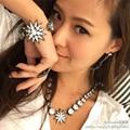 2015 Luxury designer jewelry brand retro vintage gunblack star moon sparking stones earring pendant accessories for women