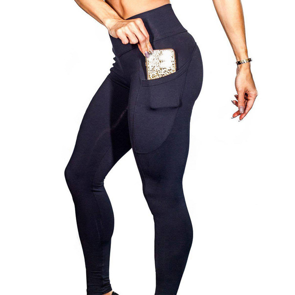Fitness Women Leggings Push-Up Workout High-Waist Casual Fashion Pocket Mujer