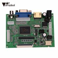 AMZDEAL New HD LCD Display 1024 600 TFT Monitor Screen Drive Board HDMI VGA Remote Control