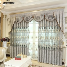 Curtains for Living Dining Room Bedroom Chenille Hollow Embroidery Fabric Custom Made