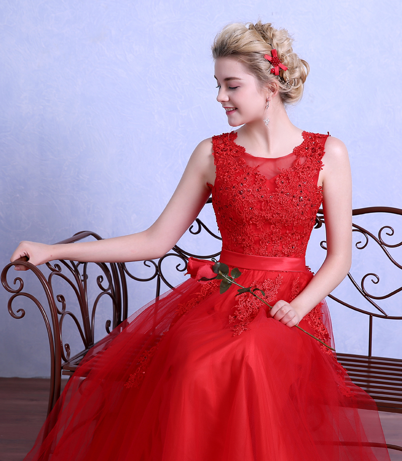 Robe De Mariage Red Wedding Dress