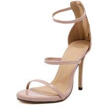 Размер 35-43 Женщин Насосы Высоких Каблуках Женская Сексуальная Узелок Гладиатор Сандалии Тонкие Каблуке Гладиатор Обувь Zapatos Mujer обувь Женщина