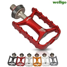 Wellgo Original M111 Quick Release Non quick Release Bicycle Pedals Road Bike Ultralight Pedal MTB Cycling Bearing Pedals