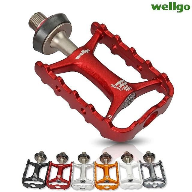 Wellgo Originele M111 Quick Release Non quick Release Fiets Pedalen Racefiets Ultralight Pedaal MTB Fietsen Bearing Pedalen