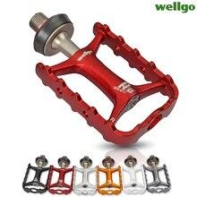 Wellgo Orijinal M111 Hızlı Bırakma Olmayan hızlı Bırakma bisiklet pedalları Yol Bisikleti Ultralight MTB Bisiklet Rulman Pedallar