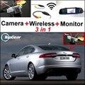 3 в 1 Специальная камера заднего вида + беспроводной приемник + зеркальный монитор легко Сделай Сам резервная система парковки для Jaguar XJ X351