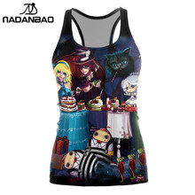 NADANBAO New Fashion Summer Cat Tank Top Women Halloween Party Cosplay Blusa Women Tops Sleeveless Color Cropped Feminino(China)